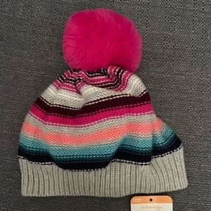 Gymboree baby hat with pink Pom Pom 0-12months